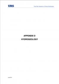 App. D Hydrogeology