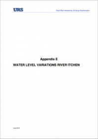 App. E Water level variations