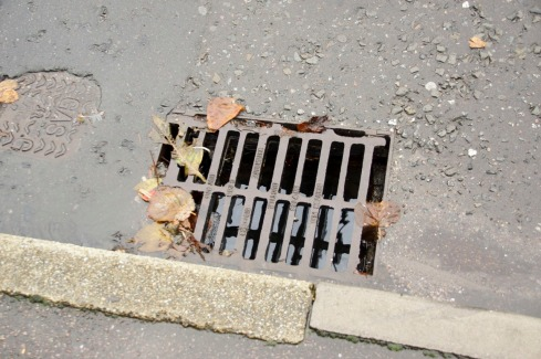 Road drains emptying
